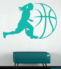 Style And Apply Lady Basketball Wall Decal Wayfair