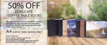 50 off duplicate coffee table book