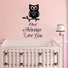 Removable Wall Art Decals Owl Always Love You Quote Wall Sticker Baby Room Decoration Good Sleep Design Wall Murals Ay1769 Wall Stickers Aliexpress