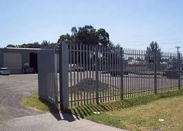 Euro Style Free Standing Metal Palisade Fence Panels For Industrial Facilities
