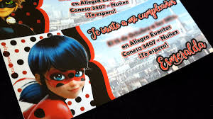 Tarjetas Invitaciones Cumpleanos Miraculous Ladybug Ticket 22