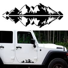 1pair 76x16cm Mountain Range Sticker Vinyl Decals For Car Auto Jeep Truck Walmart Com Walmart Com