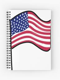 Usa American Flag Us Car Decal United States Of America Spiral Notebook By Melissacchanart Redbubble