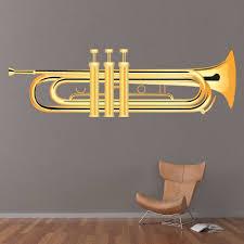 Gold Trumpet Brass Instruments Wall Decal Sticker Ws 46259 Ebay