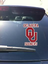 04 05 02 Oklahoma Sooner Logo Vinyl Decal Sticker Car Window Big 12 Ebay