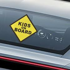 Kids On Board Vinyl Decal Car Window Bumper Sticker Child Safety Sign Warning Ebay