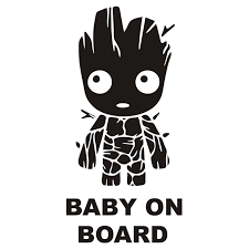 15cm Tall Baby Groot Board Die Cut Vinyl Decal Sticker Funny Car Body Window Stickers Creative Decor Ta024 Car Stickers Aliexpress