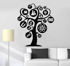 Vinyl Wall Decal Scientific Tree Science Lab School Scientist Stickers Wallstickers4you