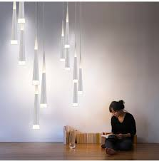 4m long led cone pendant lights