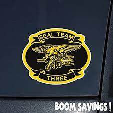 Amazon Com Us Navy Seal Team 3 6 Decal Sticker Automotive