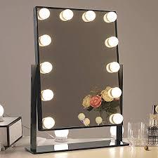chende glossy black lighted vanity