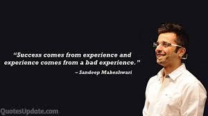 inspirational sandeep maheshwari quotes on success