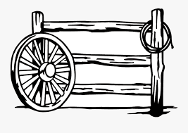 Fence Wagon Wheel Fence Drawings Free Transparent Clipart Clipartkey