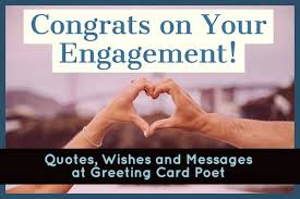 congratulations on your engagement wishes to couple getting married