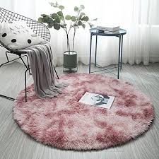 Big Offer 425721 Fluffy Round Rug Carpets For Living Room Decor Faux Fur Rugs Kids Room Long Plush Rugs For Bedroom Shaggy Area Rug Modern Mats Cicig Co