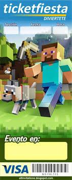 Invitacion Ticketmaster Minecraft Invitaciones De Minecraft