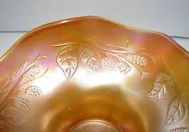 fenton marigold carnival glass bowl
