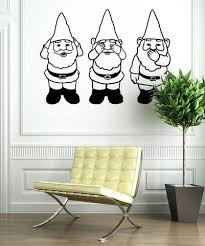 Vinyl Wall Decal Sticker Gnomes No Evil Os Mb854 Stickerbrand