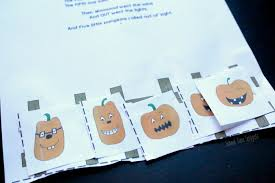 Five Little Pumpkins Cutting Practice Printable School Time Snippets