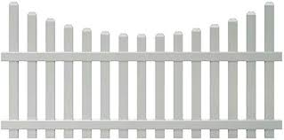 4 Ft X 8 Ft Vinyl Glendale Scalloped Top Spaced Picket Fence Panel With 3 In Dog Ear Pickets Unassembled Amazon Com
