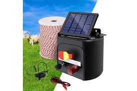 Giantz 5km Solar Powered Electric Fence Wire Energiser Battery Energizer Charger Tape Kogan Com