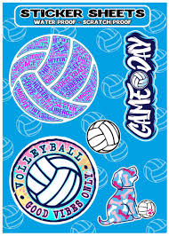 Volleyball Sticker Sheets Gymrats Volleyball Clothing Co