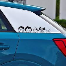 5x25cm Happy Family Vinyl Film Car Stickers Window Decal Art Design Pattern Car Body Sticker For Windshield Waterproof Accessory Shop The Nation