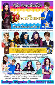 Kit Imprimible Descendientes Descendants Candy Bar Fiesta Kit