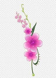 زهور وردية ورد ورود البنفسجي فرع Png