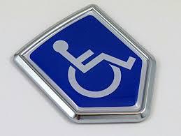 Handicapped Decal Car Chrome Emblem Stic Buy Online In Guernsey At Desertcart