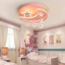 Kids Room Led Ceiling Lamp Girl Children S Bedroom Cartoon Star Chandelier Pink Ebay