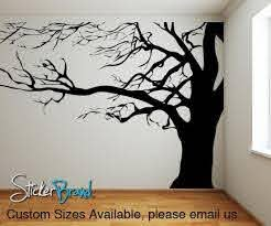 Large Spooky Bare Tree Branches Vinyl Wall Decal Sticker Ac122 Tree Wall Decal Tree Wall Murals Family Tree Mural