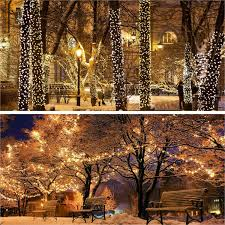 50 500 Leds String Lights Solar Powered Outdoor Garden Fence Fairy Warm White Uk Ebay