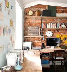 exposed brick wall without drilling