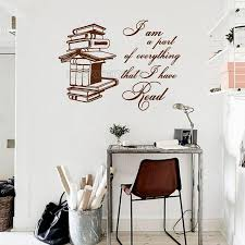 Reading Books Wall Decal Quote I Am A Part Of Everything That I Have Read Vinyl Wall Sticker Reading Room Library Diy Decor Quotes Stickers For Walls Quotes Wall Stickers From Joystickers