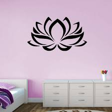 Lotus Flower Decal Style 2 Vivid Wall Decals
