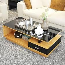 glass coffee table minimalist modern