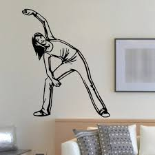 Shop Fitness Girl Exercise Wall Art Sticker Decal Overstock 11179748