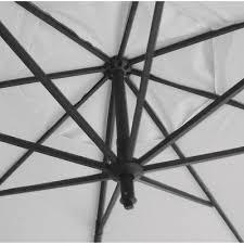11 offset patio umbrella linen black