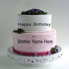 write name on beautiful birthday cake