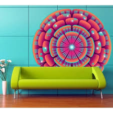 Shop Mandala Flower Relax Full Color Wall Decal Sticker K 1212 Frst Size 52 X52 Free Shipping Today Overstock 21477141