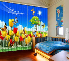 Pastoral Style Hd 3d Curtain Garden Flowers Butterfly Kids Room Curtains Modern Girl Room Curtain Drapes Window Decoration Curtains Drapes Curtains Drapes Stylesdrape Style Aliexpress