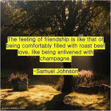 samuel johnson the feeling of friendship is