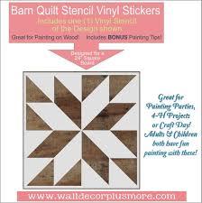 Barn Quilt Stencil Art Diy Wood Home Decor Farmhouse Vinyl Stickers Wall Decor Plus More