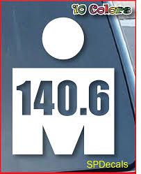 Buy Ironman Triathlon Logo 140 6 Car Window Vinyl Decal Sticker 6 Tall Color White In Cheap Price On Alibaba Com