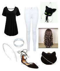 "Female Cat Noir"" by adeline-jackson on Polyvore featuring Plutus ..."