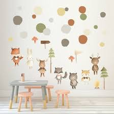 Shop Cartoon Animals Wall Stickers Birthday Party Wall Decal Removable Art Wall Decals For Children Home Room Bedroom Online From Best Bed Pillows On Jd Com Global Site Joybuy Com