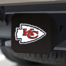 Kansas City Chiefs Hitch Cover Color Emblem On Black Caseys Distributing