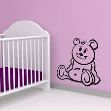 Teddy Bear Vinyl Wall Decal Rapid Vinyl