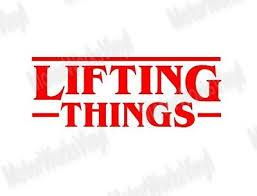 Lifting Things Sticker Bodybuilding Gym Workout Vinyl Sticker Decal Car Truck Ebay